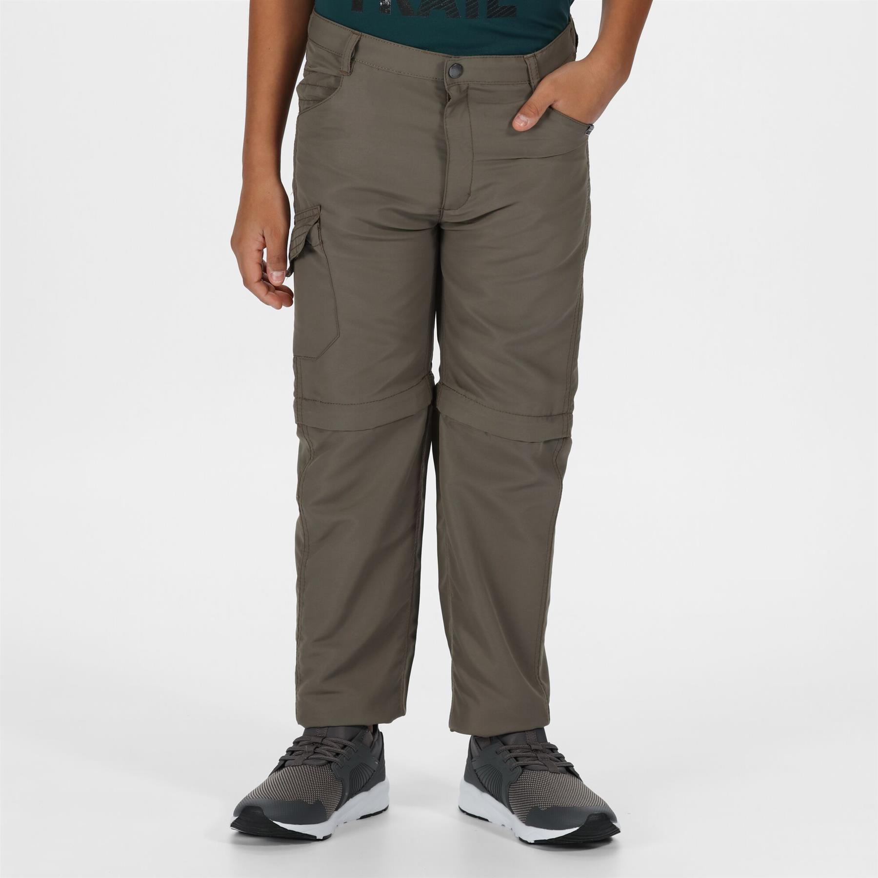 miniatuur 8 - Regatta Kids Sorcer II Zip Off Convertible Trousers Boys Girls