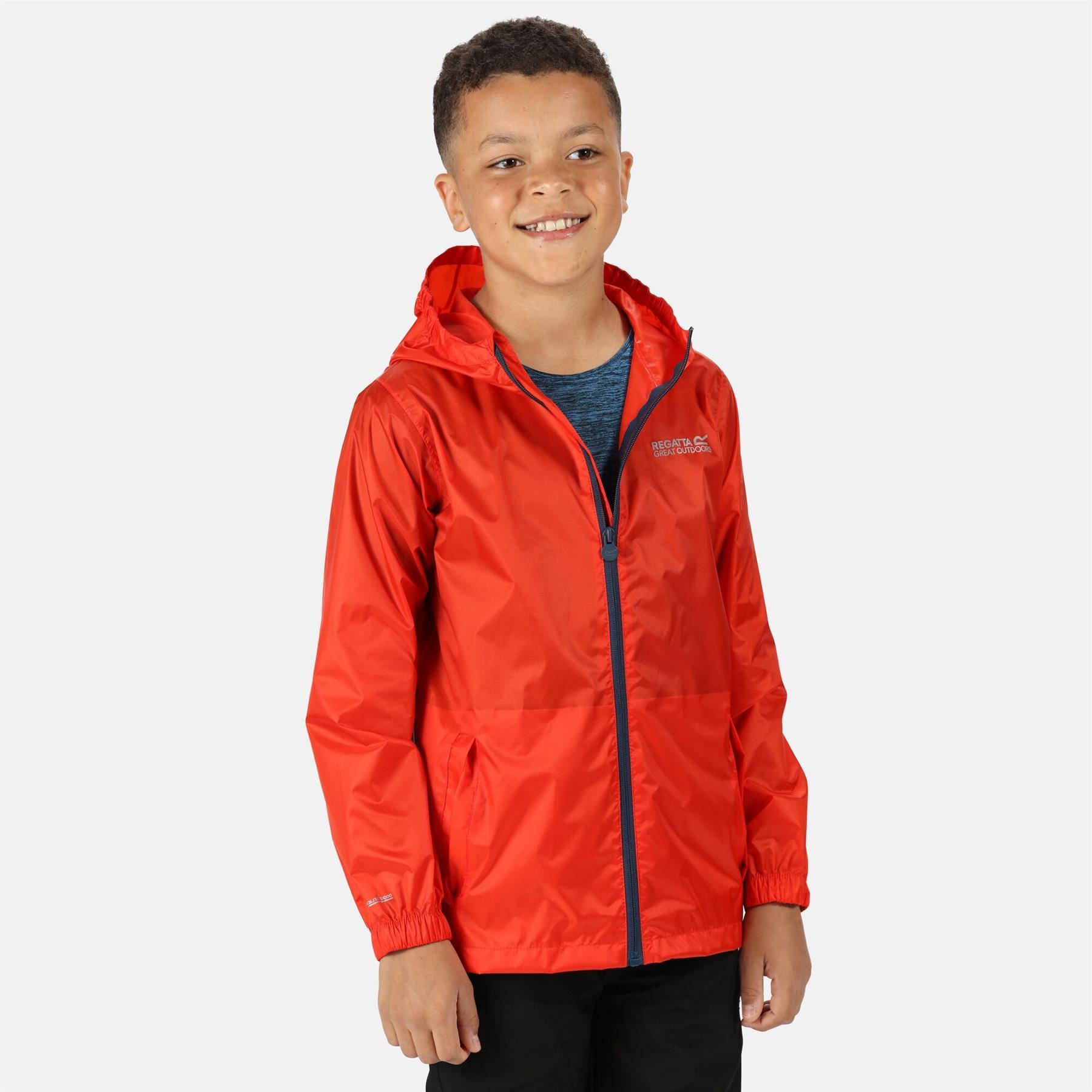 miniatuur 4 - Regatta Kids Pack it Jacket II Lightweight Waterproof Packaway Jacket Boys Girls