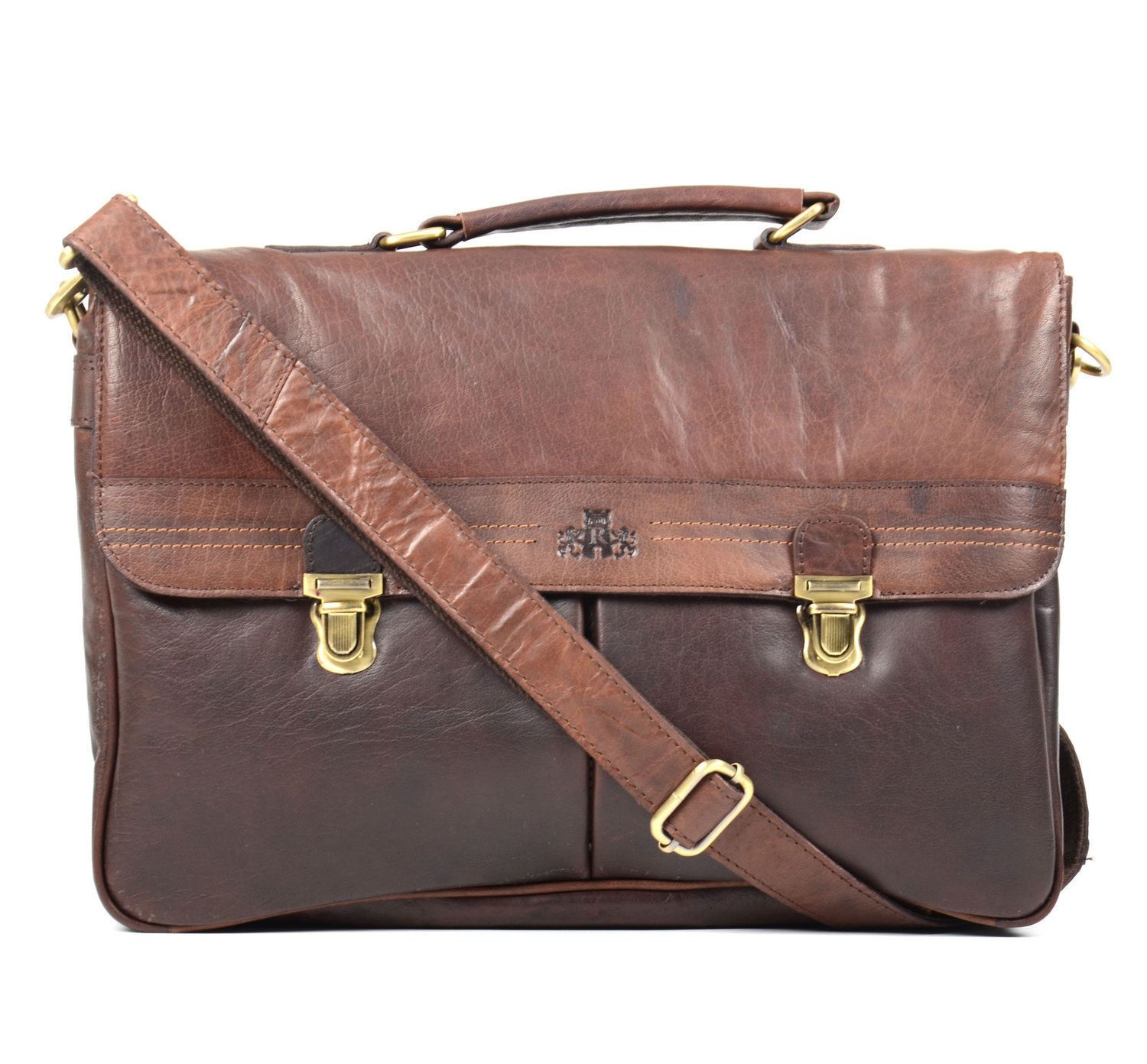 a229af69af49 A classic yet simple style, the Rowallan Brown Soft Leather Briefcase has  been made with drum dyed buffalo leather to give you that executive and ...