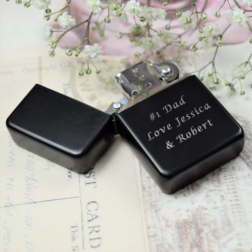Wedding Gifts For Ushers And Best Man: Personalised Engraved Black Lighter