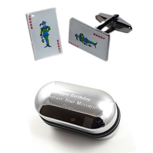 Casino-Gambling-Playing-Cards-Joker-Cufflinks-amp-Engraved-Gift-Box
