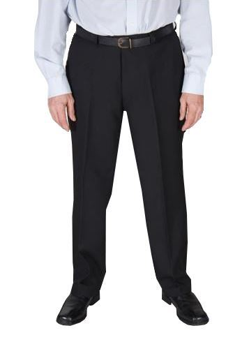 L27-33 Dura Press Mens Poly Viscose Formal Trousers in Black,Waist 30-62 Inches