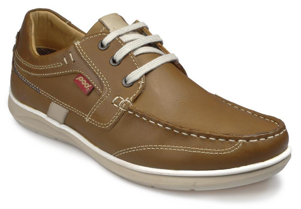 Pod Mens Casual Lace up Shoe - Kestrel Tan