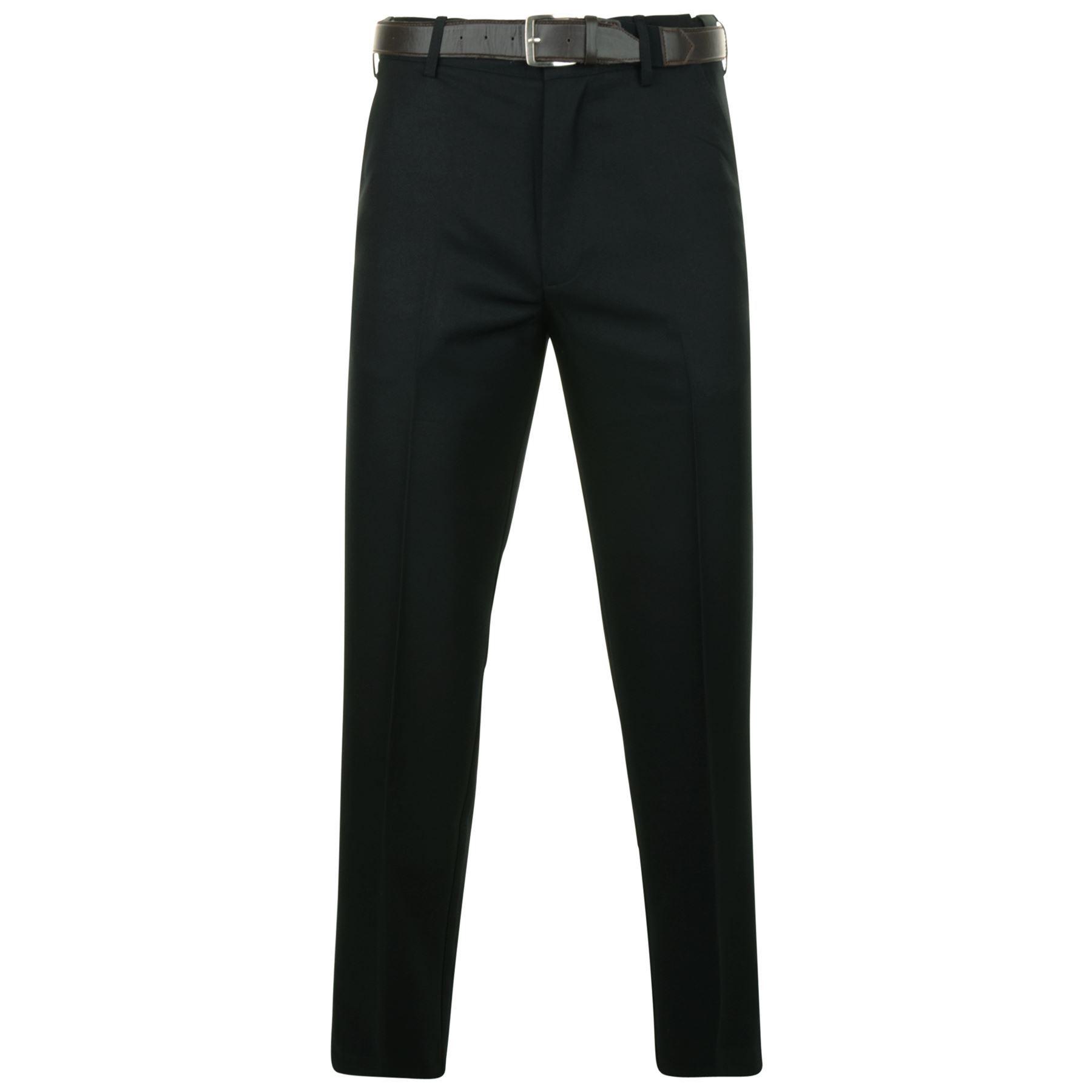 Kam Hombre Flexi Cintura Pantalones De Vestir 259 En Negro 40 60 L27 33 Ebay