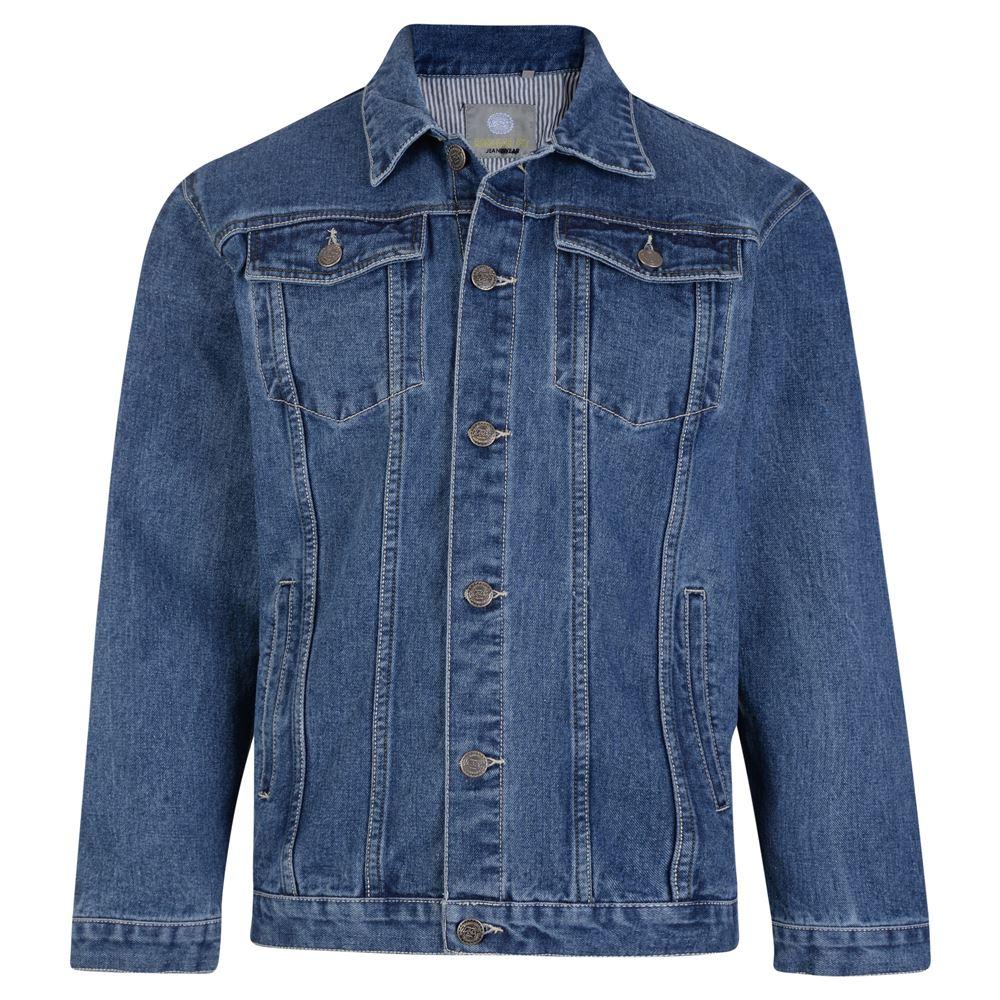 Kam Uomo Alta Qualità Giacca di in jeans occidentale (401) in di Stonewash Blu, Taglia S-8XL db0cba
