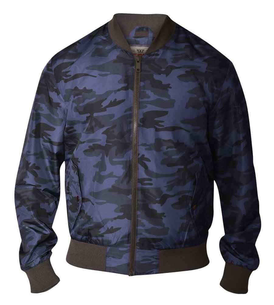Smith And Jones Mens Romanesque Camouflage MA1 Diamond Padded Camo Bomber Jacket