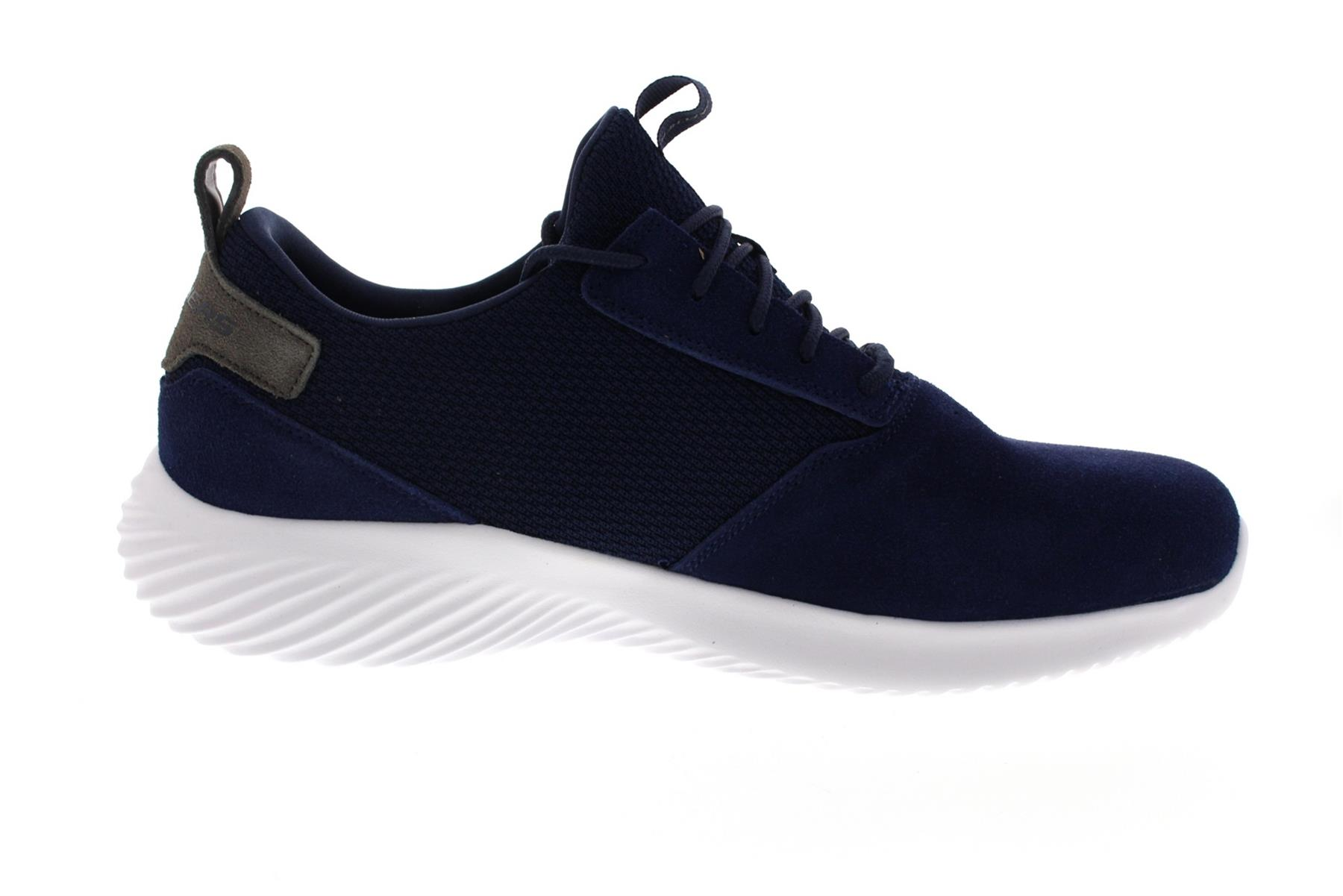 Details about SKECHERS Men's Bounder Skich Comfort Training And Walking Sneakers in Navy