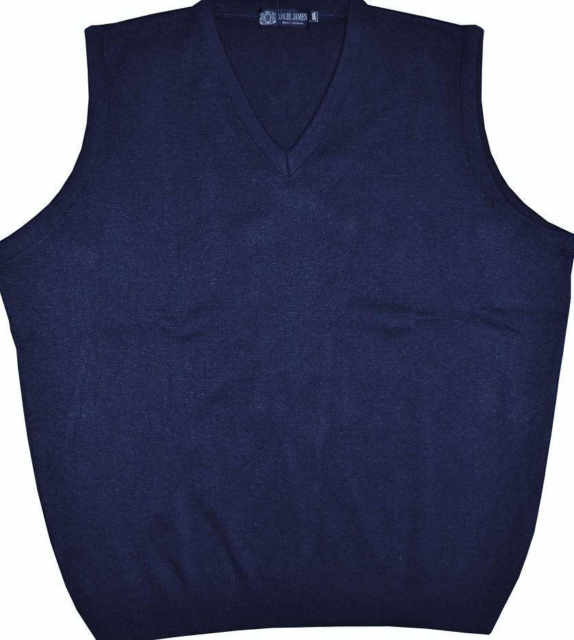 Louie James Mens Cotton Blend Medium Knit 6 Button Cardigan in Navy in Size 2XL-8XL