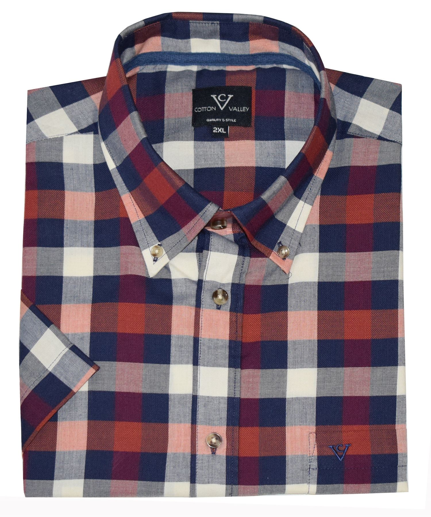 Cotton Valley Mens Big Size Poly Cotton Check Shirts AW18