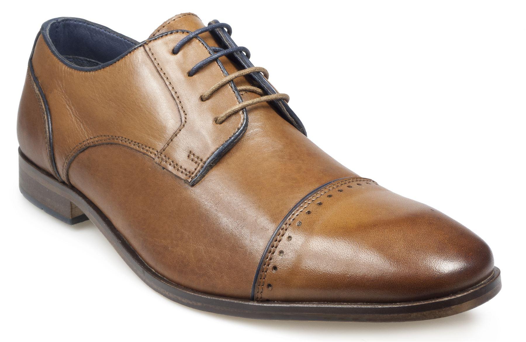 Pod Mens Lace up shoe (Regus) in Cognac