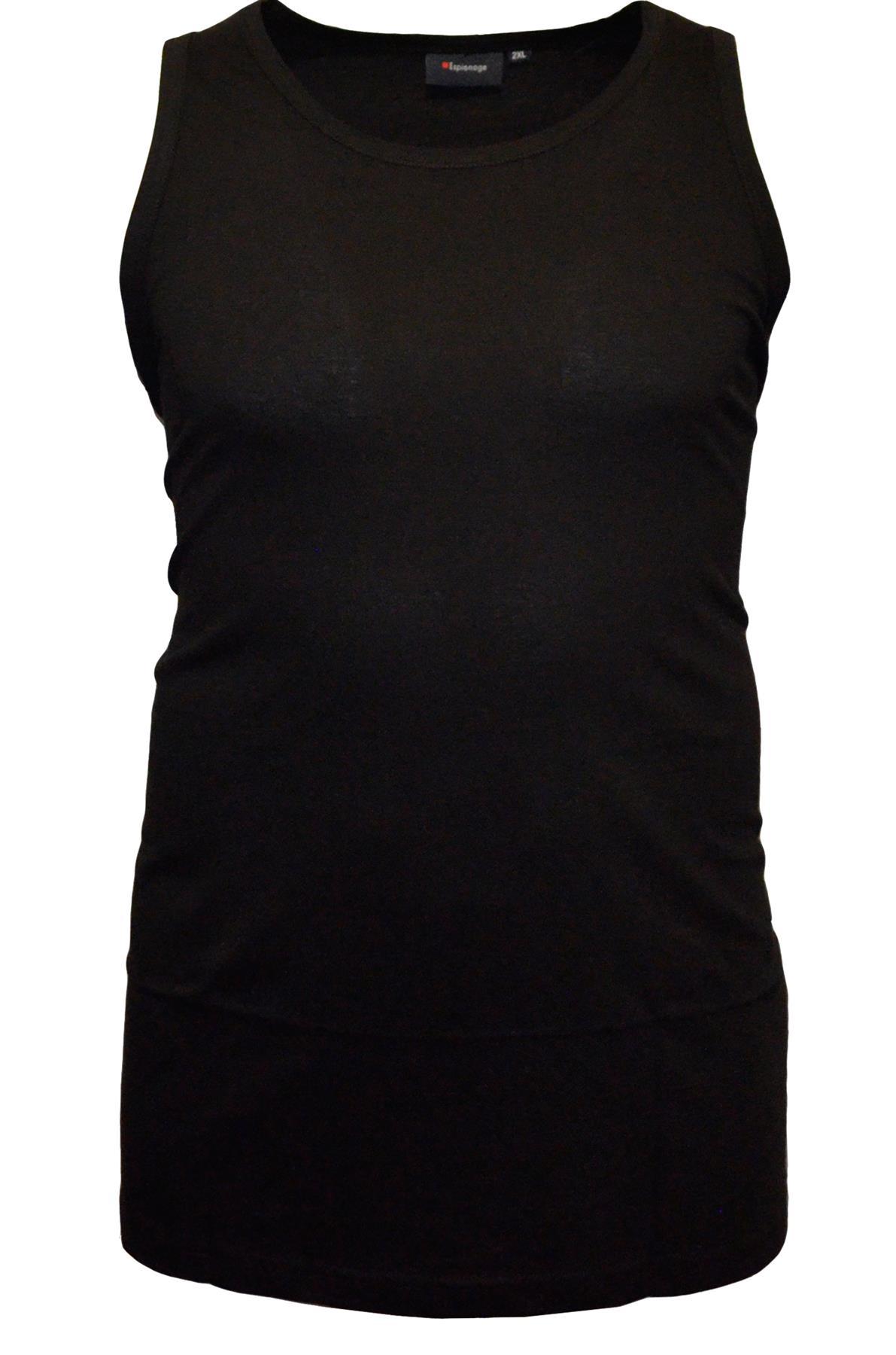 Mens Long Length Pure Cotton Muscle Vest Big Plus Sizes Medium to 8XL