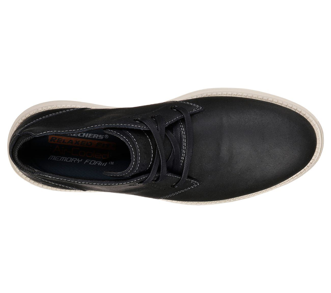 Details about Skechers Mens Relaxed Fit status rolano Oxford Black Shoes show original title