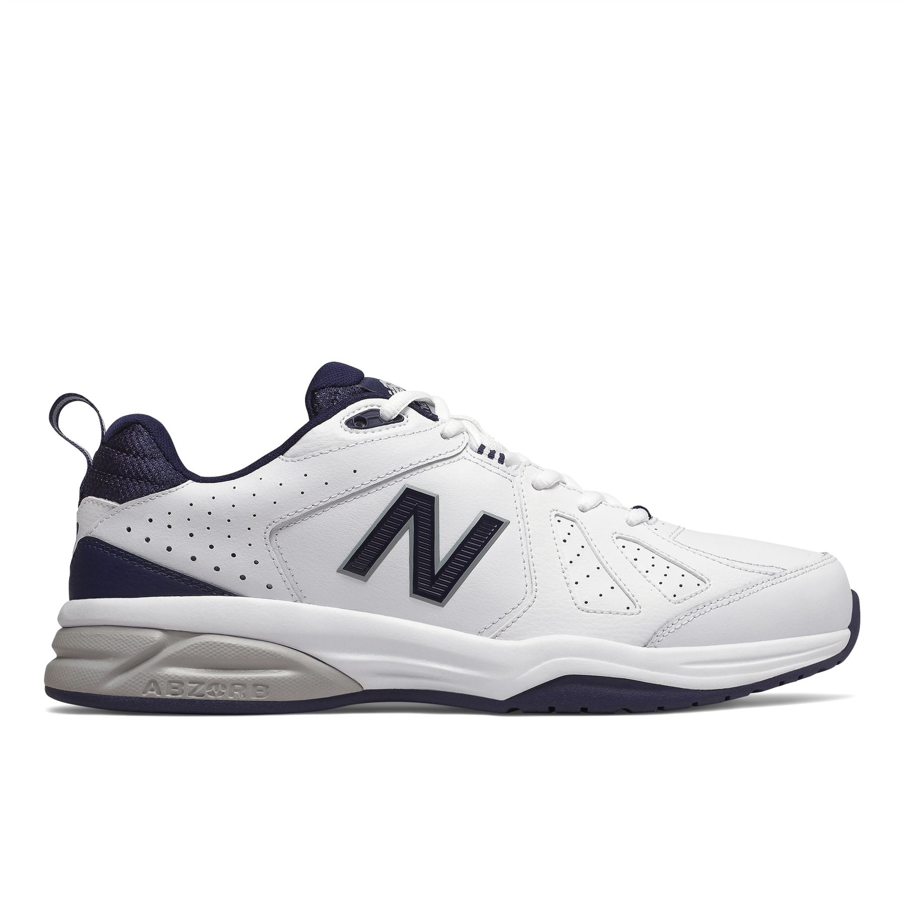 New Balance Mens Extra Wide Fit (4E) Leather Sneakers (624) in ...