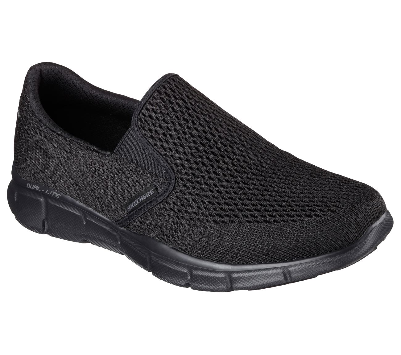 SKECHERS Men/'s Equalizer-Double Play Trainers in Charcoal//Orange,Size UK5.5-UK13