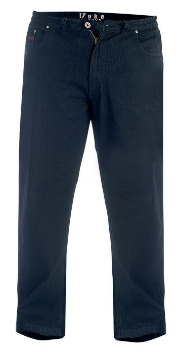 DUKE-LONDON-RELAXED-COMFORT-FIT-STRETCH-JEANS-BALFOUR-WASHED-BLACK-WAIST42-034-60-034 thumbnail 7