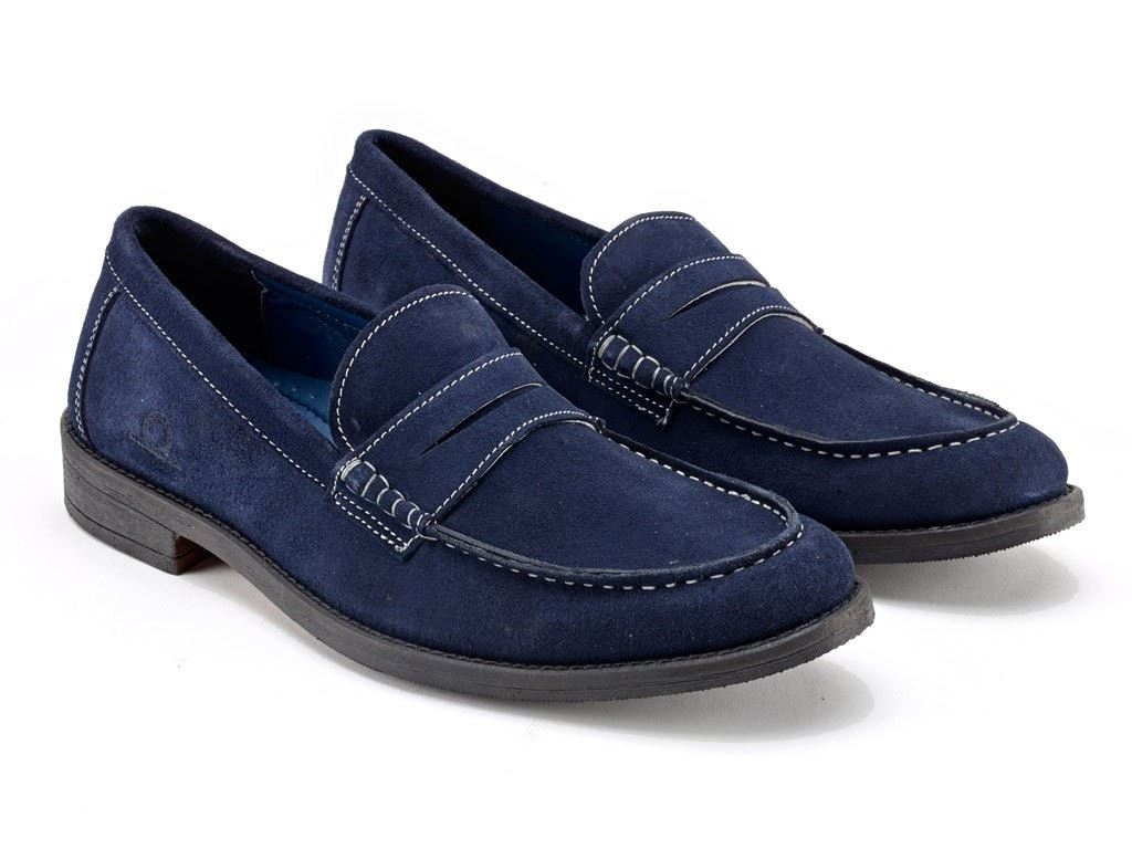 Chatham Perth Penny Loafers Navy Suede to Schuhes in Größe UK7 to Suede UK15 65f371