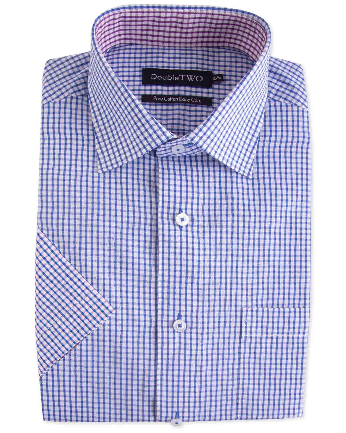 Fensajomon Mens Cotton Pure Color Long Sleeve Button Down Business Dress Shirts