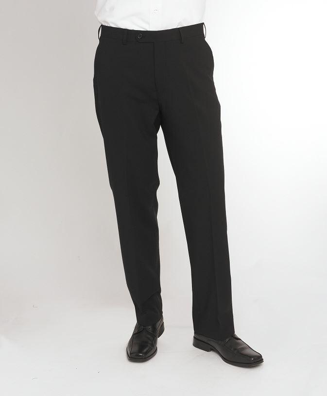 Intelligente Skopes Hommes Extra Grand Mélange Laine Plaine Costume Noir Pantalon, Taille Taille 34-48xl-afficher Le Titre D'origine Lustre Brillant