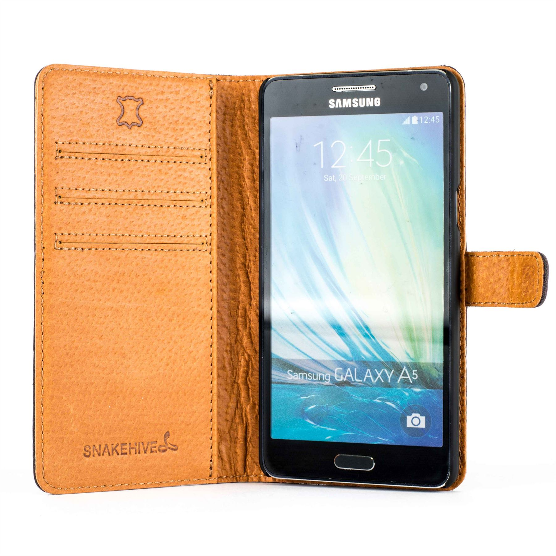 best website d213e ee69a Details about Snakehive Samsung A5 (2016) Premium Genuine Leather Wallet  Case w/ Card Slots