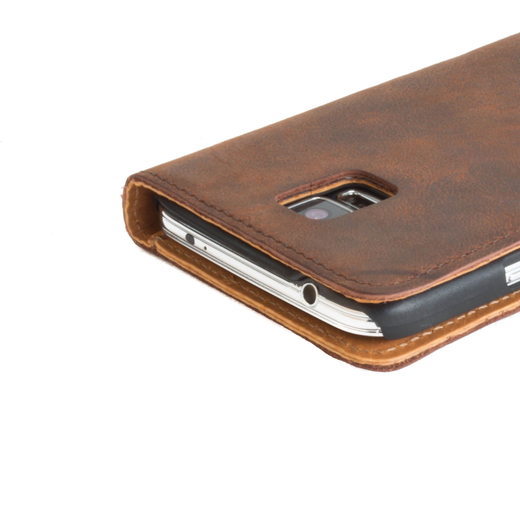 on sale 35517 c744d Details about Snakehive Samsung Galaxy S5 Premium Genuine Leather Wallet  Case w/ Card Slots