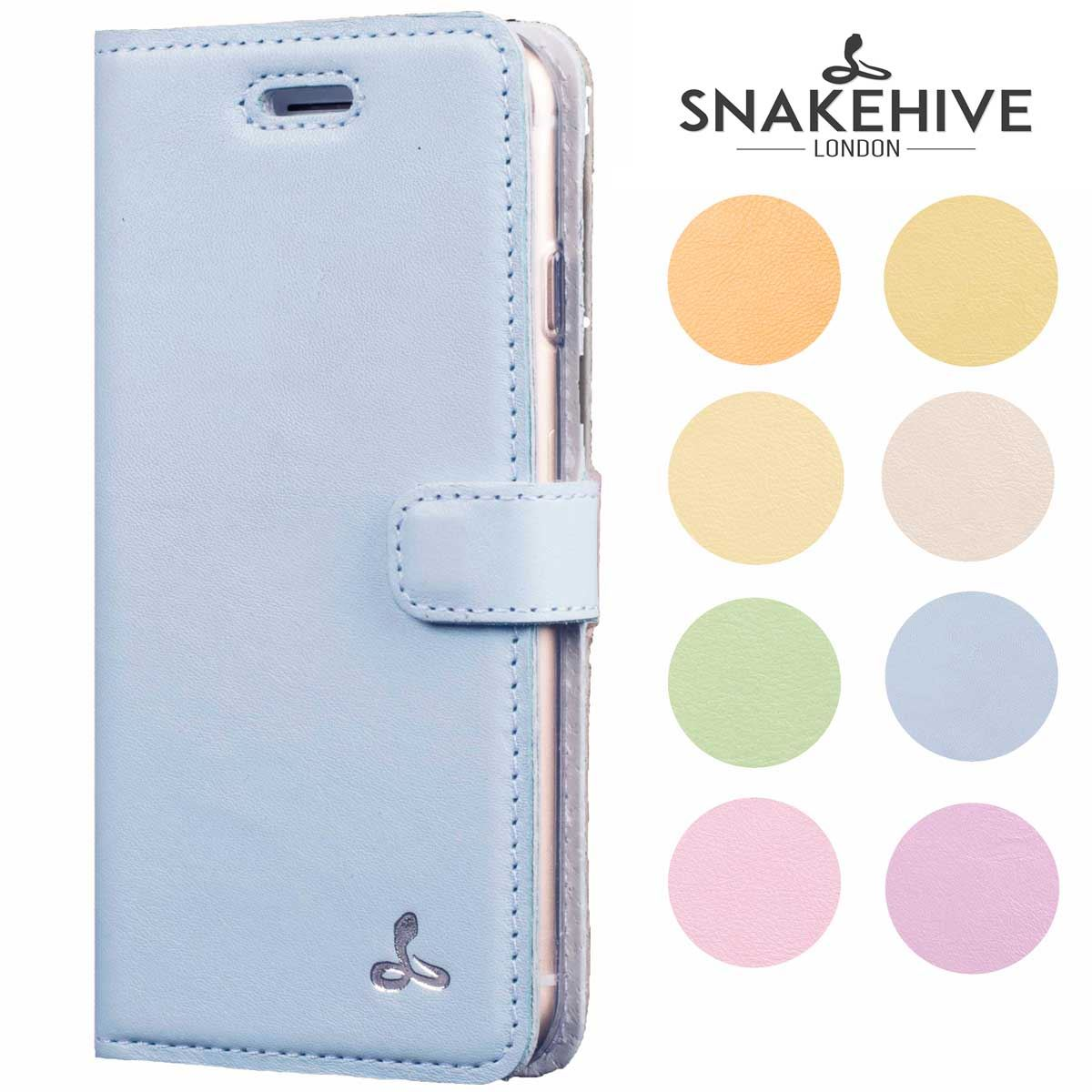 uk availability b106f fed50 Details about Snakehive Apple iPhone 8 Plus Premium Pastel Colour Leather  Phone Wallet Case