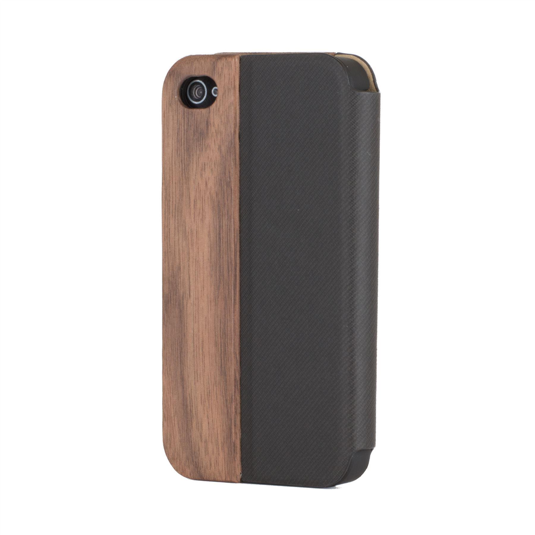 snakehive apple iphone 4 4s real wood leather wallet flip case cover ebay. Black Bedroom Furniture Sets. Home Design Ideas