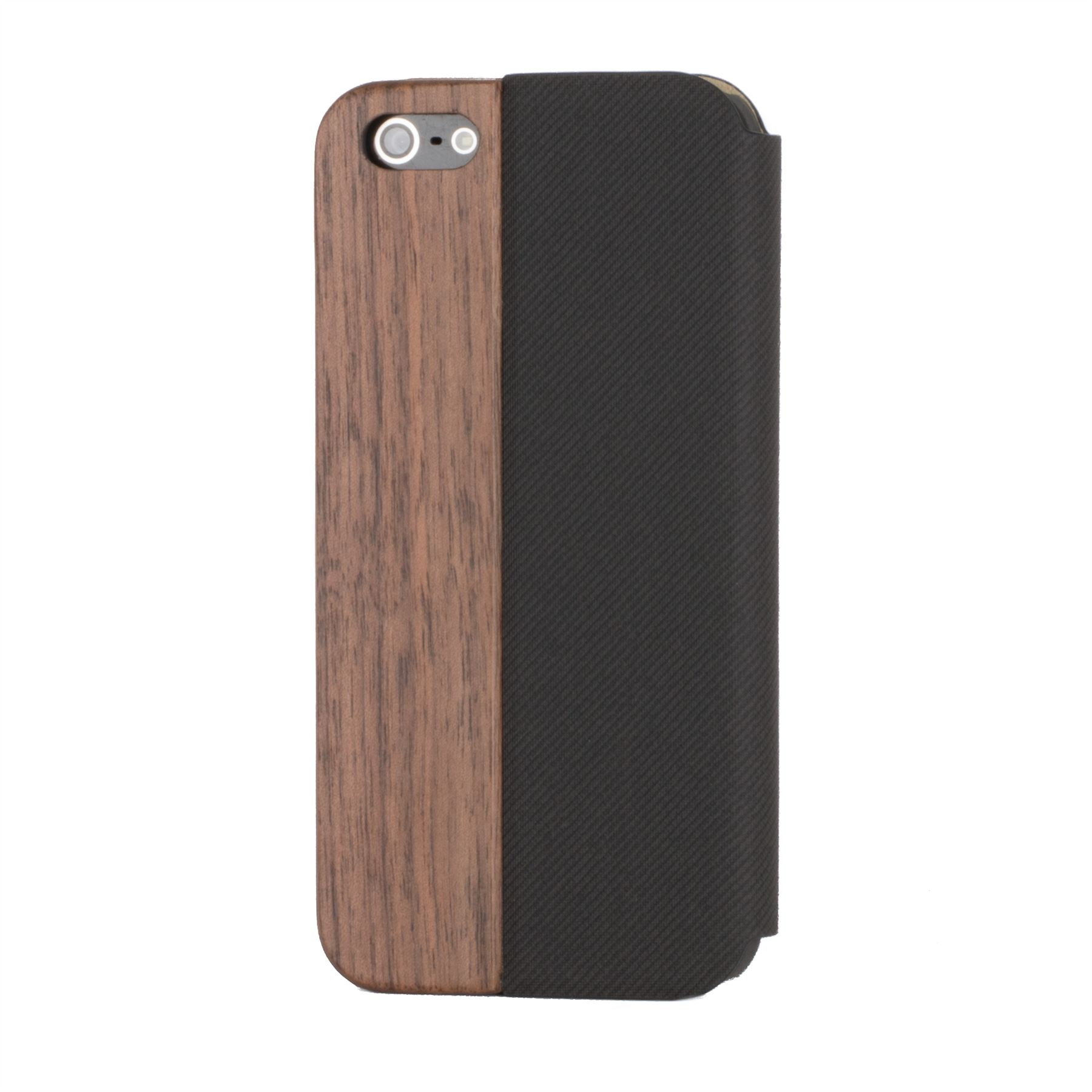 iphone 5 c cases snakehive 174 real wood amp leather wallet flip cover for 14486