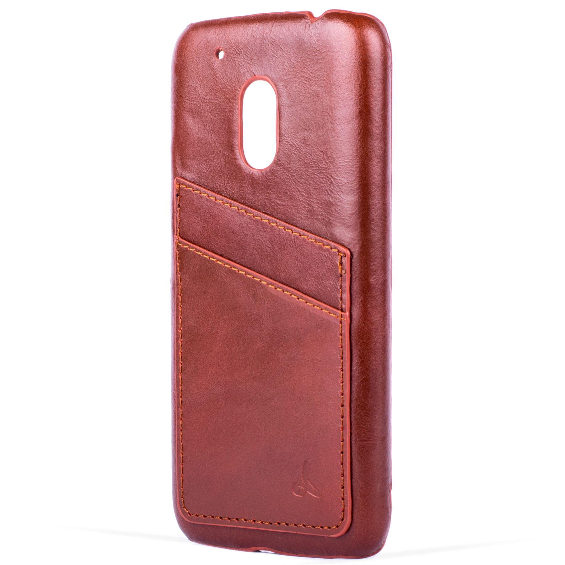 various colors 8fafc 9c411 Details about Snakehive® Motorola Moto G4 Play Leather Shell Back Case Slim  Cover w/Card Slots
