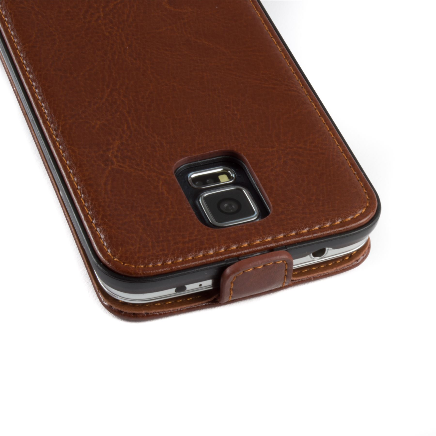 Snakehive-Samsung-Galaxy-S5-Genuine-Classic-Leather-Flip-Case thumbnail 20