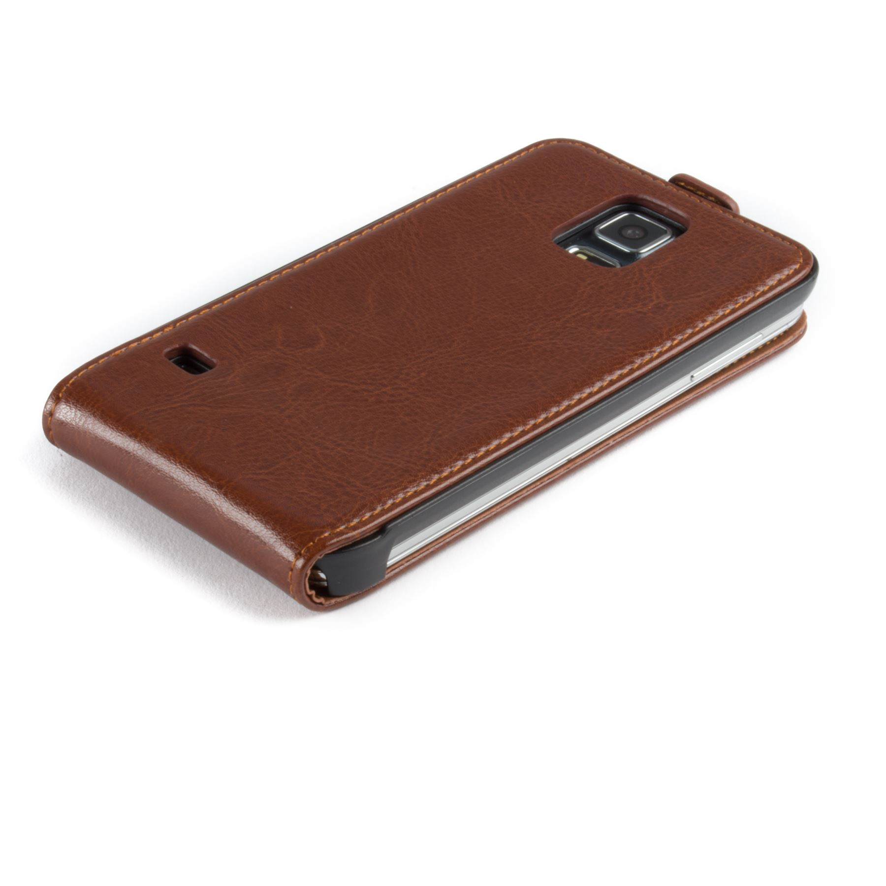 Snakehive-Samsung-Galaxy-S5-Genuine-Classic-Leather-Flip-Case thumbnail 23