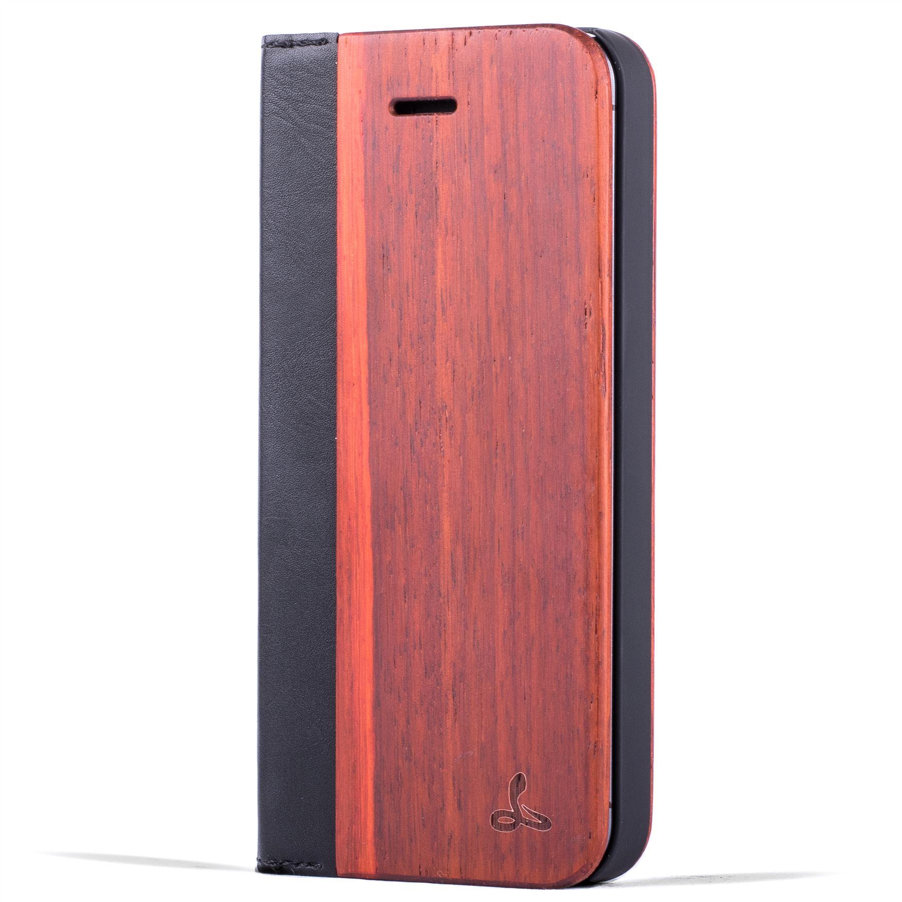 snakehive real wood leather wallet flip case cover for apple iphone 5 5s se ebay. Black Bedroom Furniture Sets. Home Design Ideas