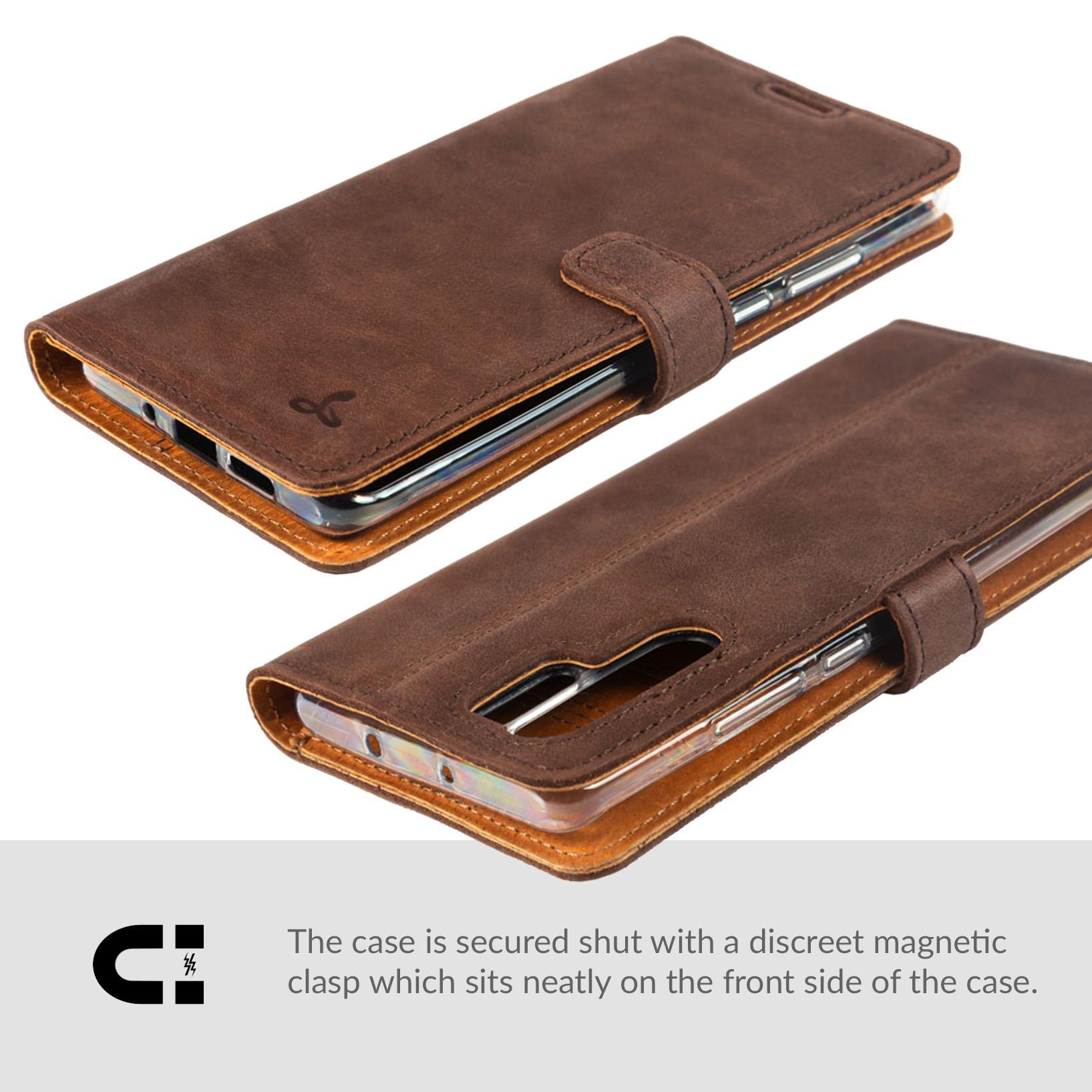 Snakehive-Huawei-P30-Pro-Premium-Genuine-Leather-Wallet-Case-w-Card-Slots thumbnail 8