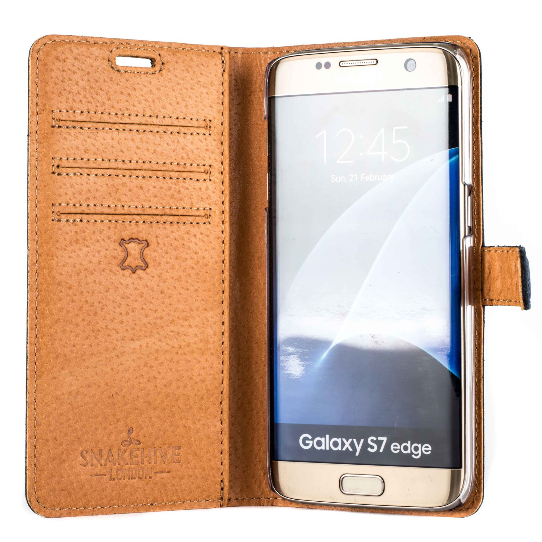 the best attitude bf112 65f1d Snakehive Vintage Collection Samsung Galaxy S7 Edge Wallet Case - Leather
