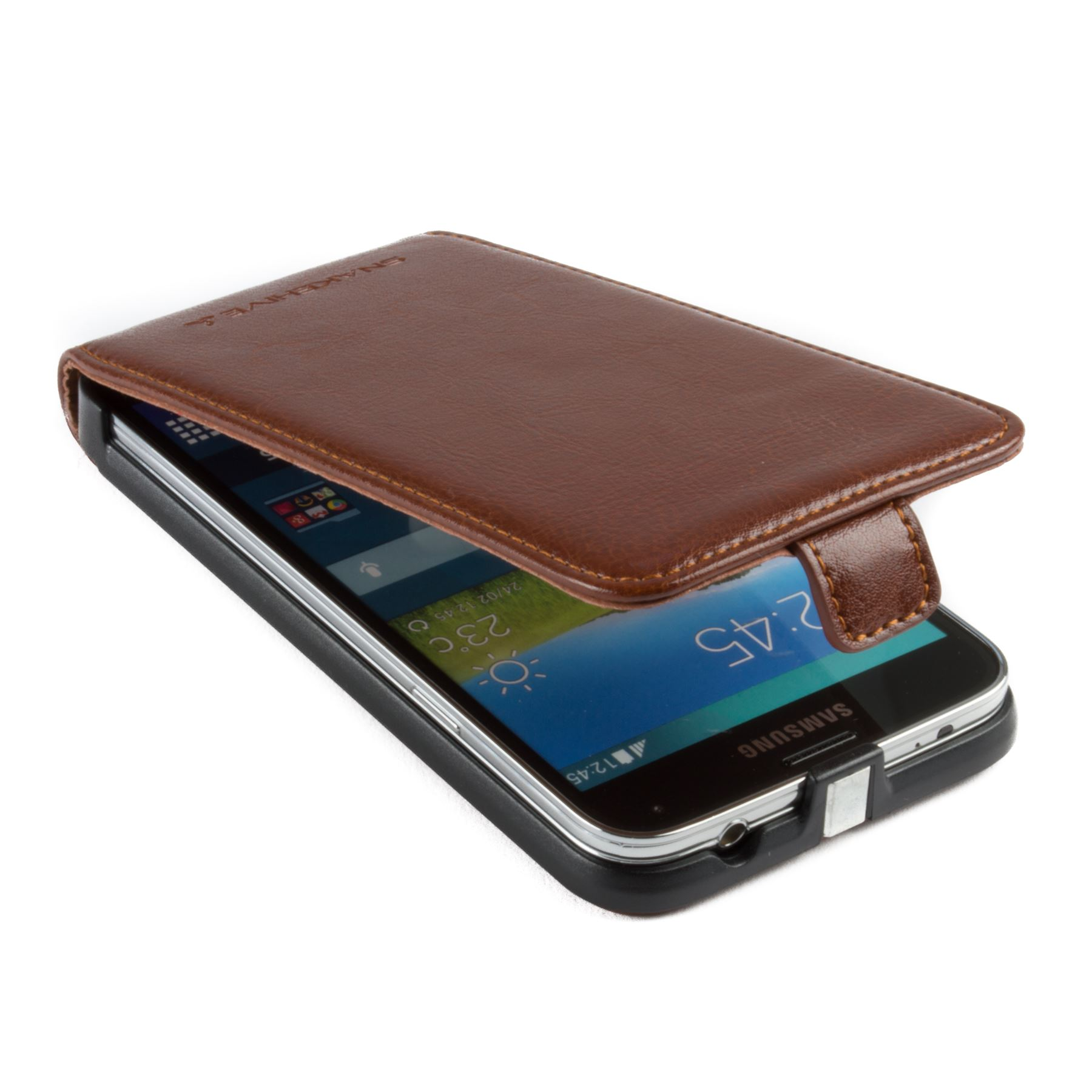 Snakehive-Samsung-Galaxy-S5-Genuine-Classic-Leather-Flip-Case thumbnail 24