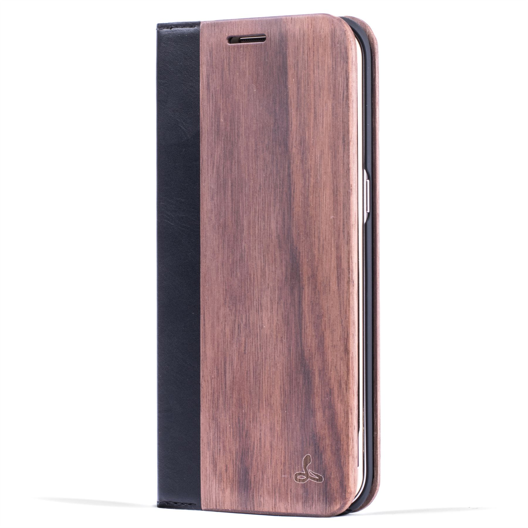 Details About Snakehive Samsung Galaxy S7 Edge Natural Wood Leather Phone Folio Wallet Case