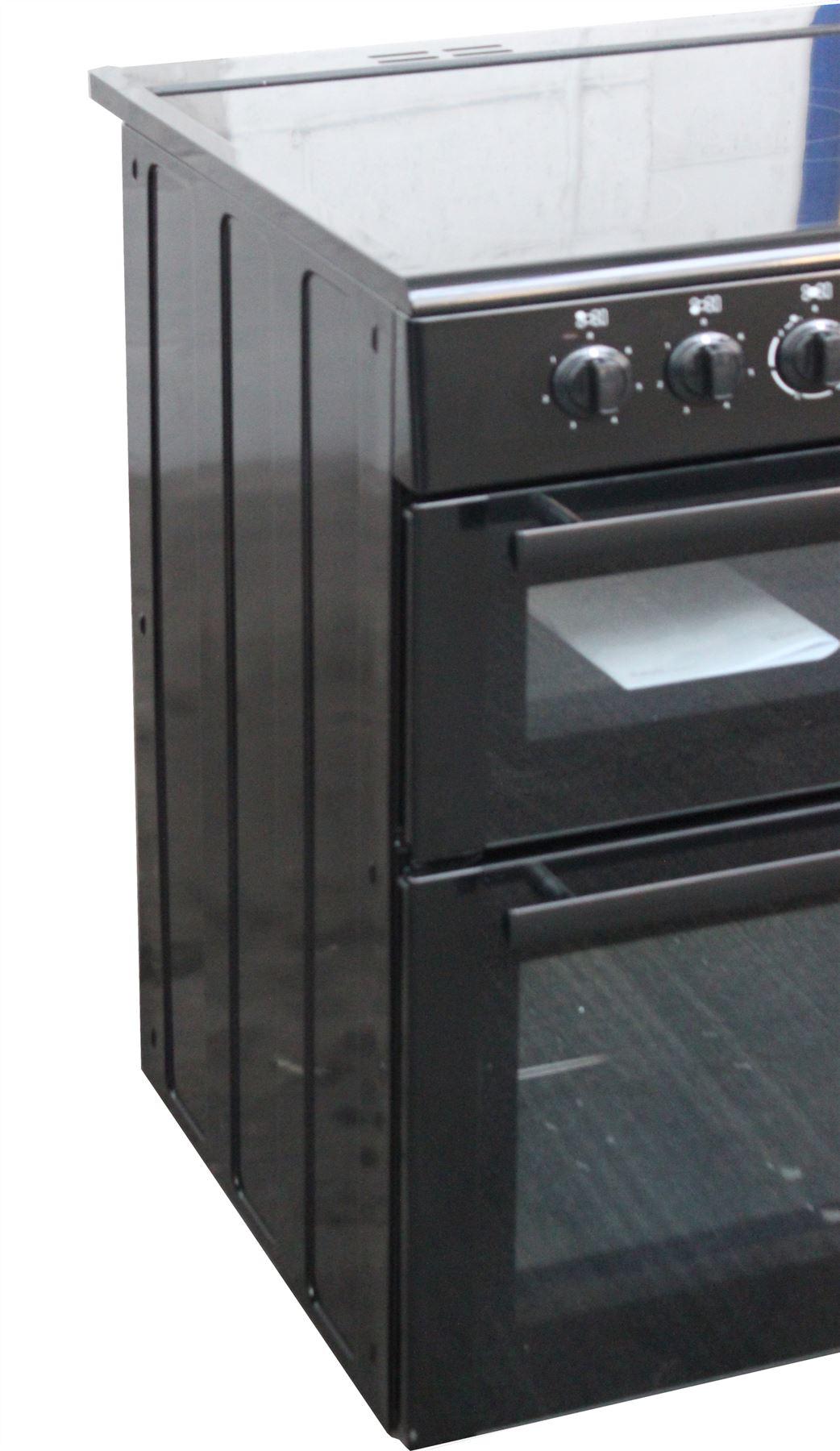 Double Double 100cm : Beko cm electric range cooker bdvc k ceramic hob