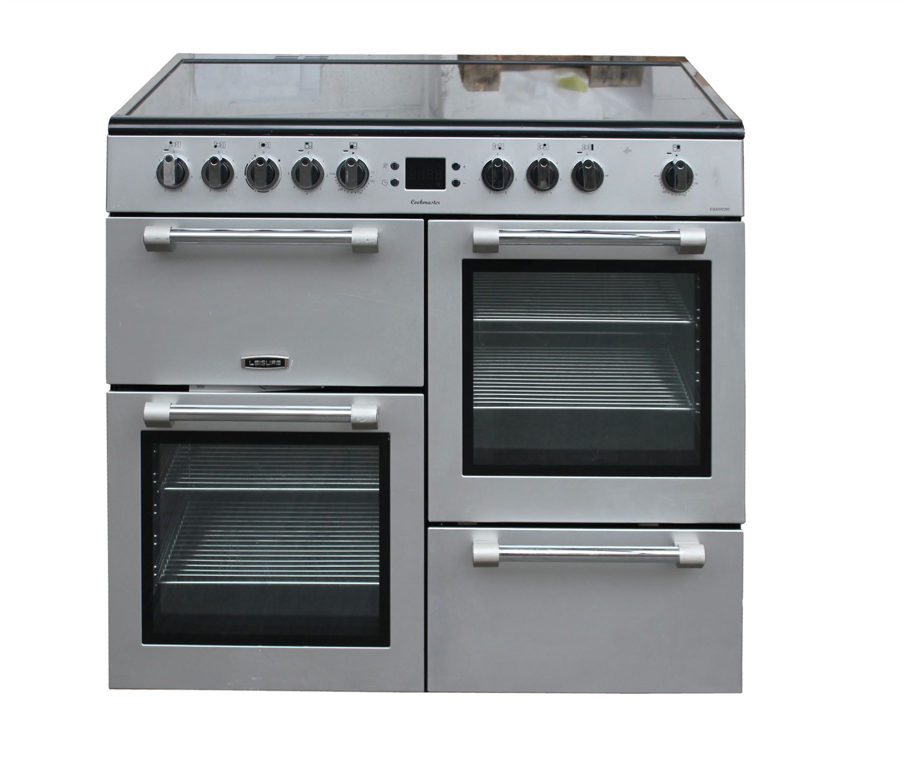 Leisure Electric Range Cooker 100 Cm Ceramic Hob 2 Ovens