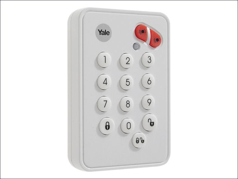 White Yale Yefkp Alarms Easy Fit Remote Keypad