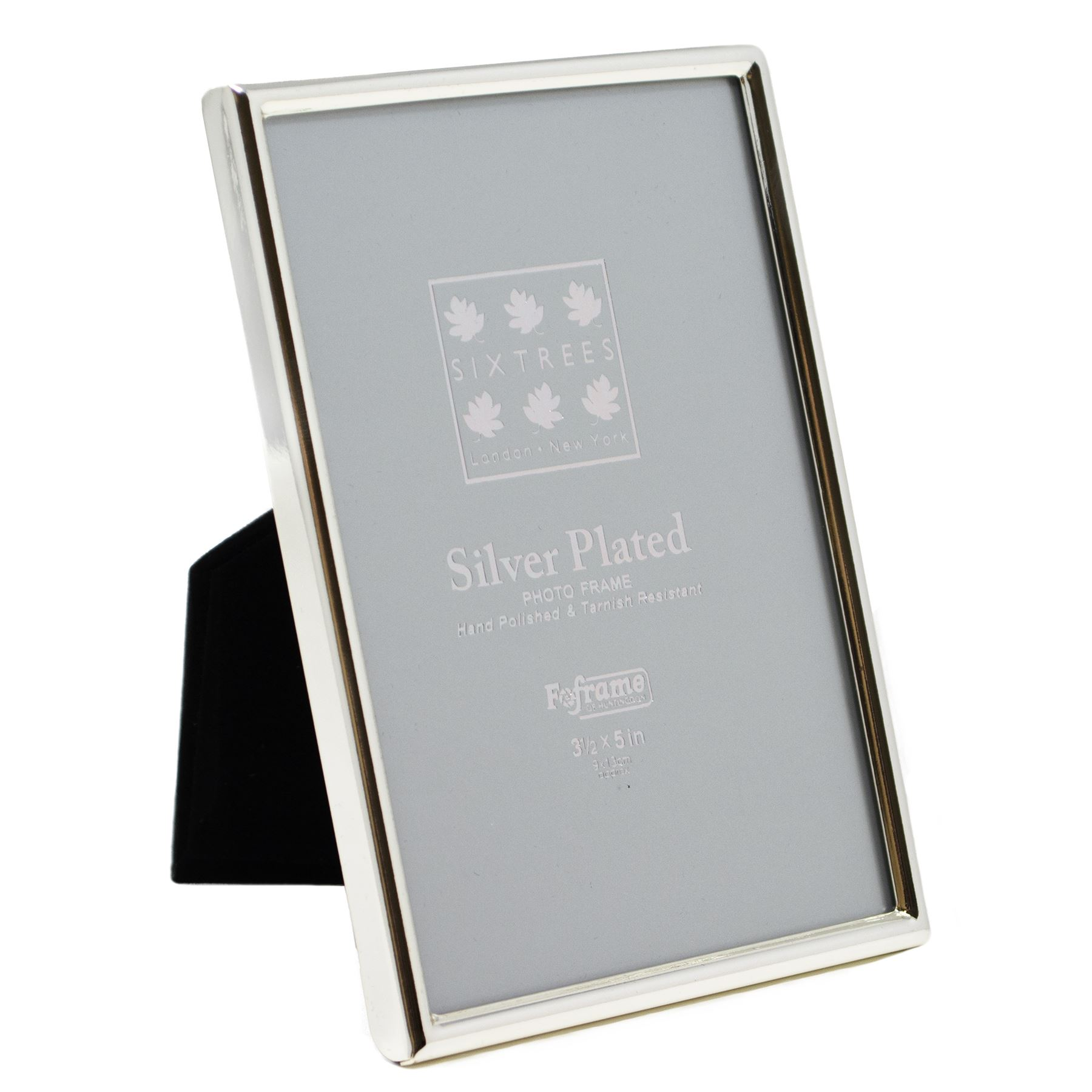 Sixtrees Cambridge Silver Plated 35 X 5 Small Picture Photo Frame