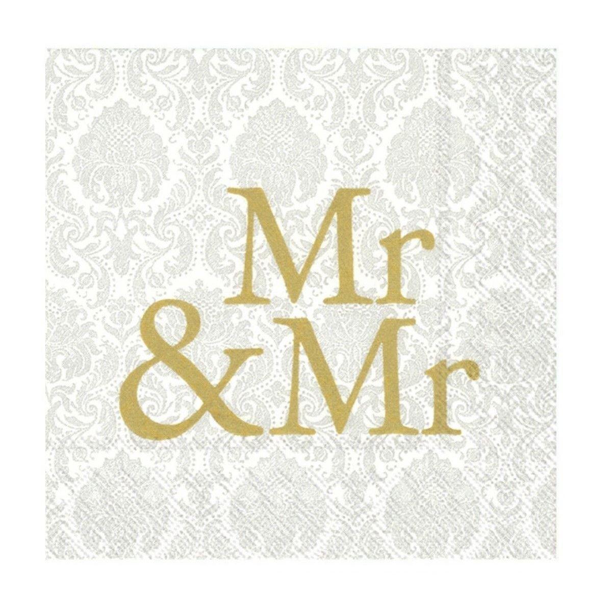 Mr Mr Gold Paper Napkins Wedding Day Cocktail Party Disposable Serviettes Ebay