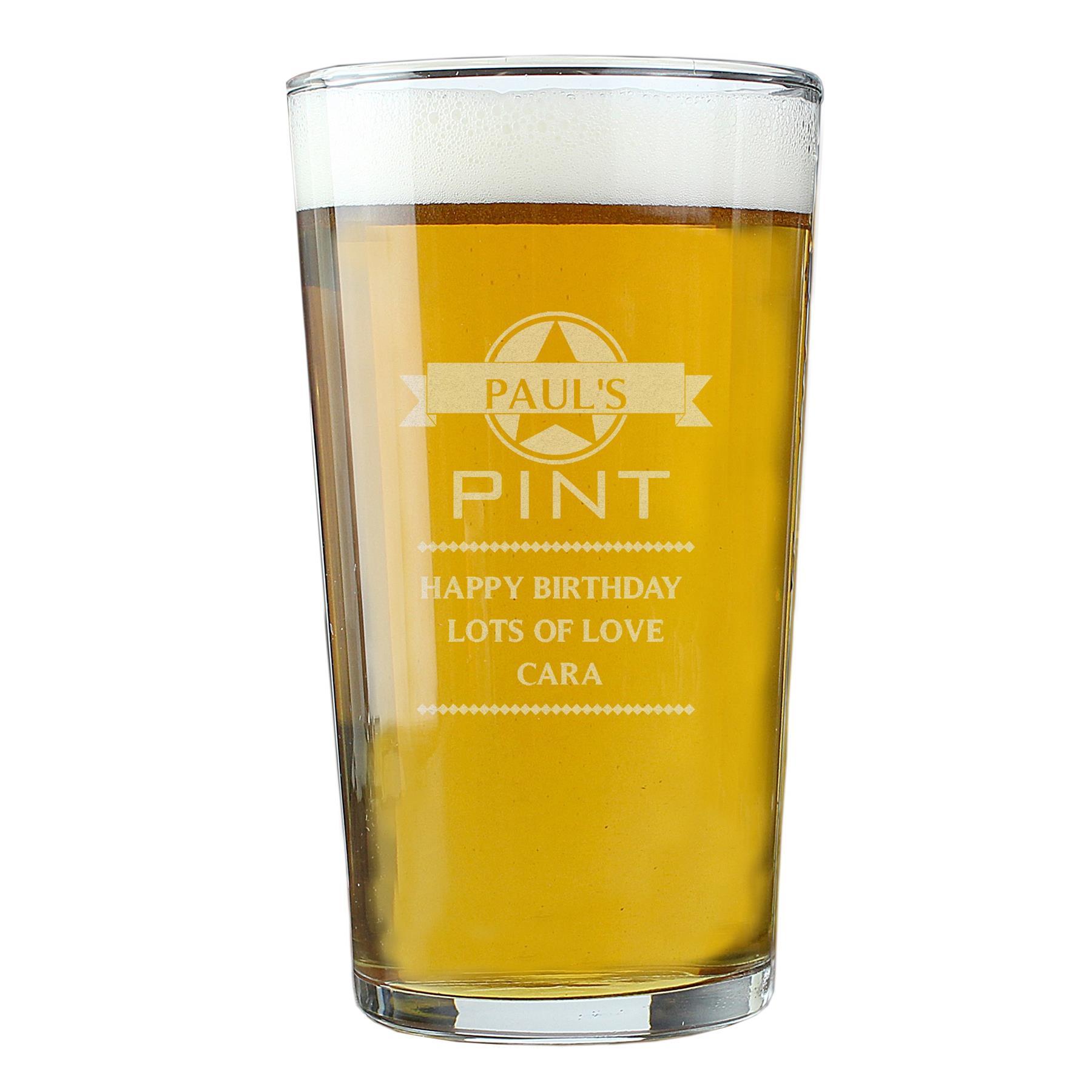 Personalised Carlsberg 1 Pint Beer Lager Glass Birthday Wedding Best Man gifts