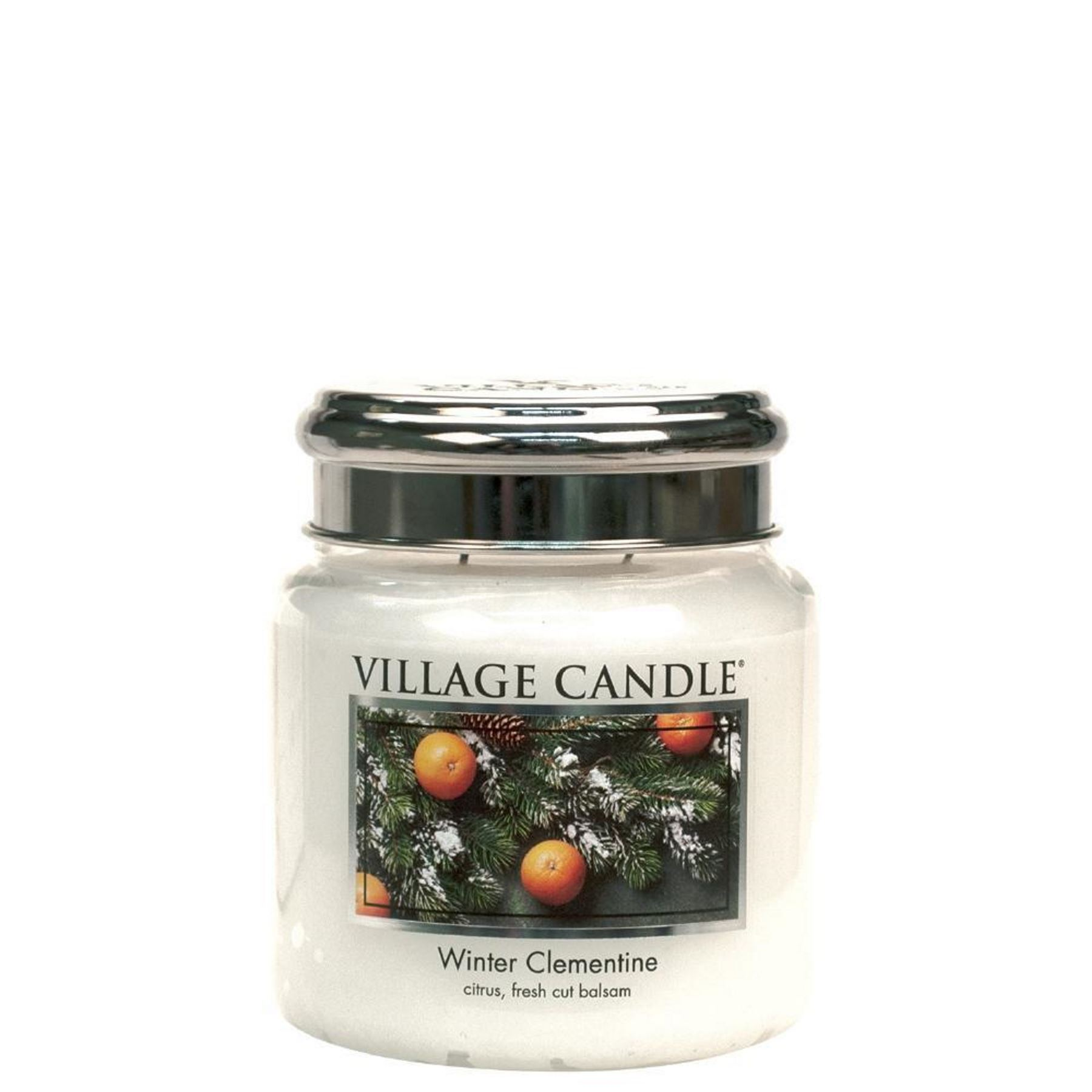 Village Candle Winter Clementine 26 oz Glass Jar Scented Candle Large