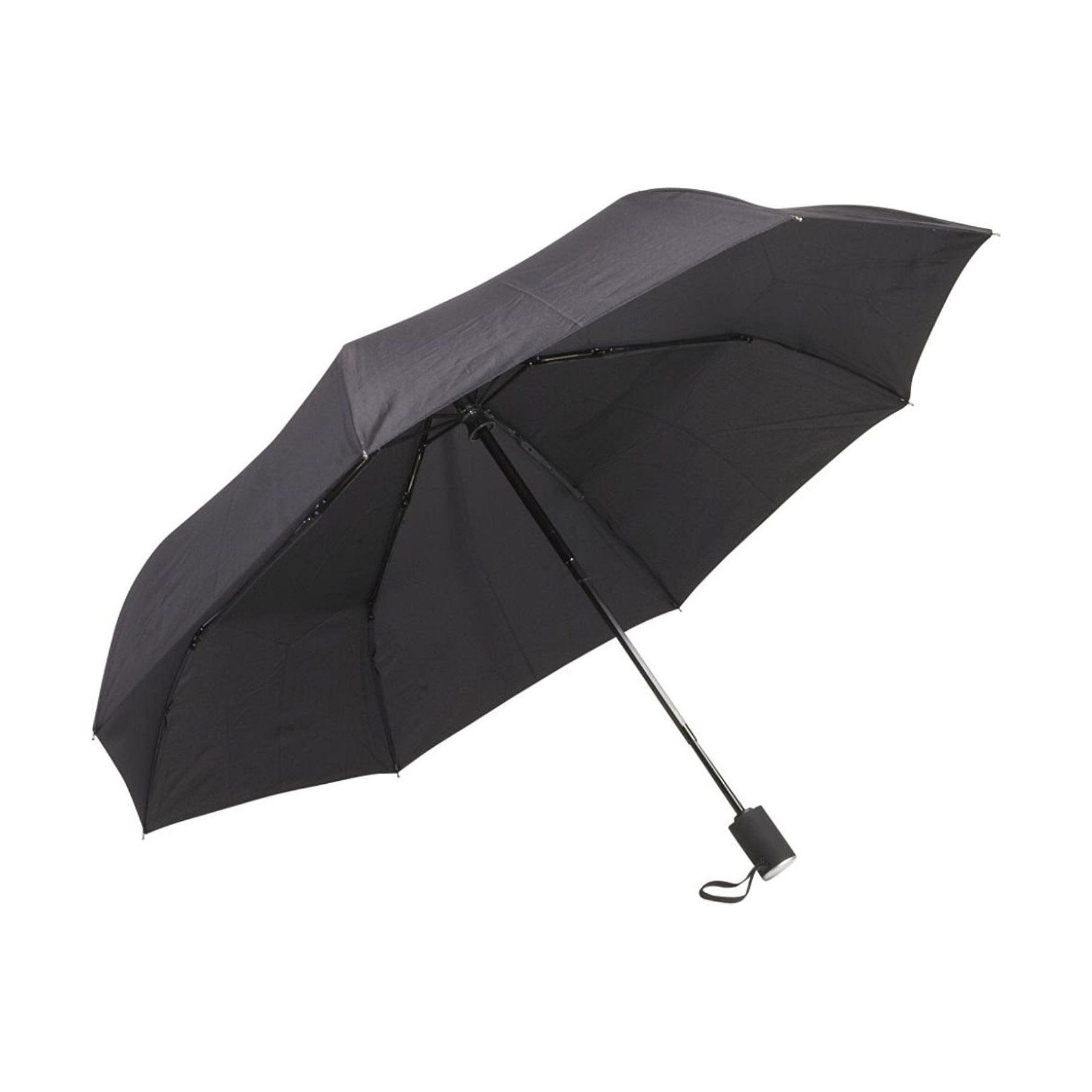 Men/'s Compact Auto Open /& Close Black Umbrella with Fiberglass Windproof Frame