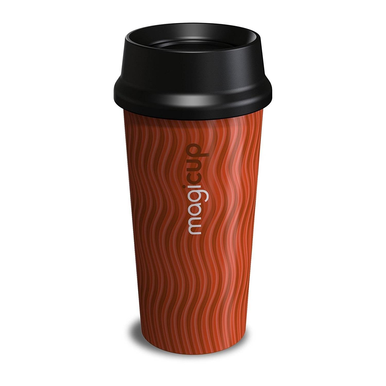 Double Wall Thermal Insulated Coffee Mug Coffee Tea Travel Mug Non Spill 500ml