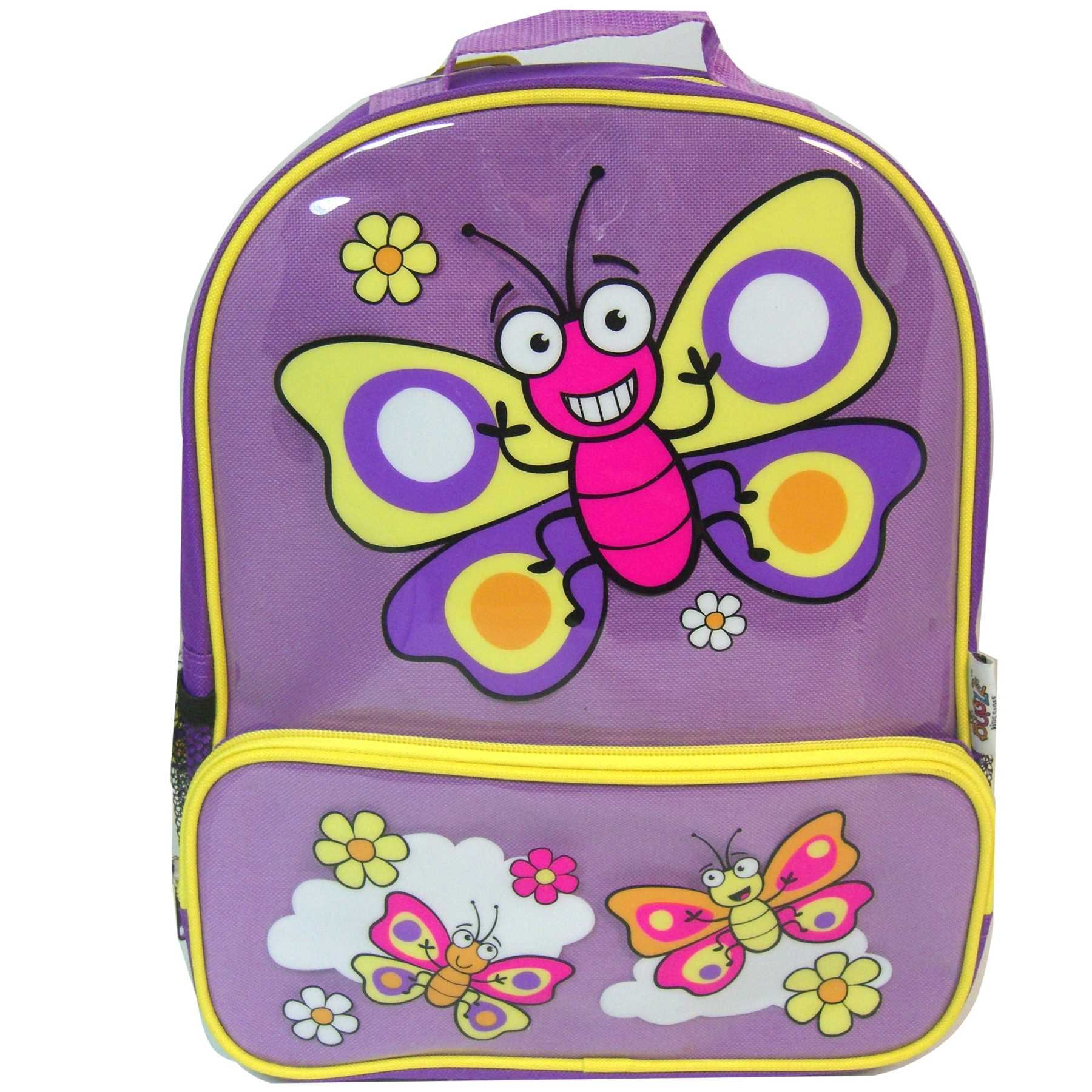 Bugzz PURPLE BUTTERFLY Backpack School Bag Rucksack Girls Swimming Childs Kids