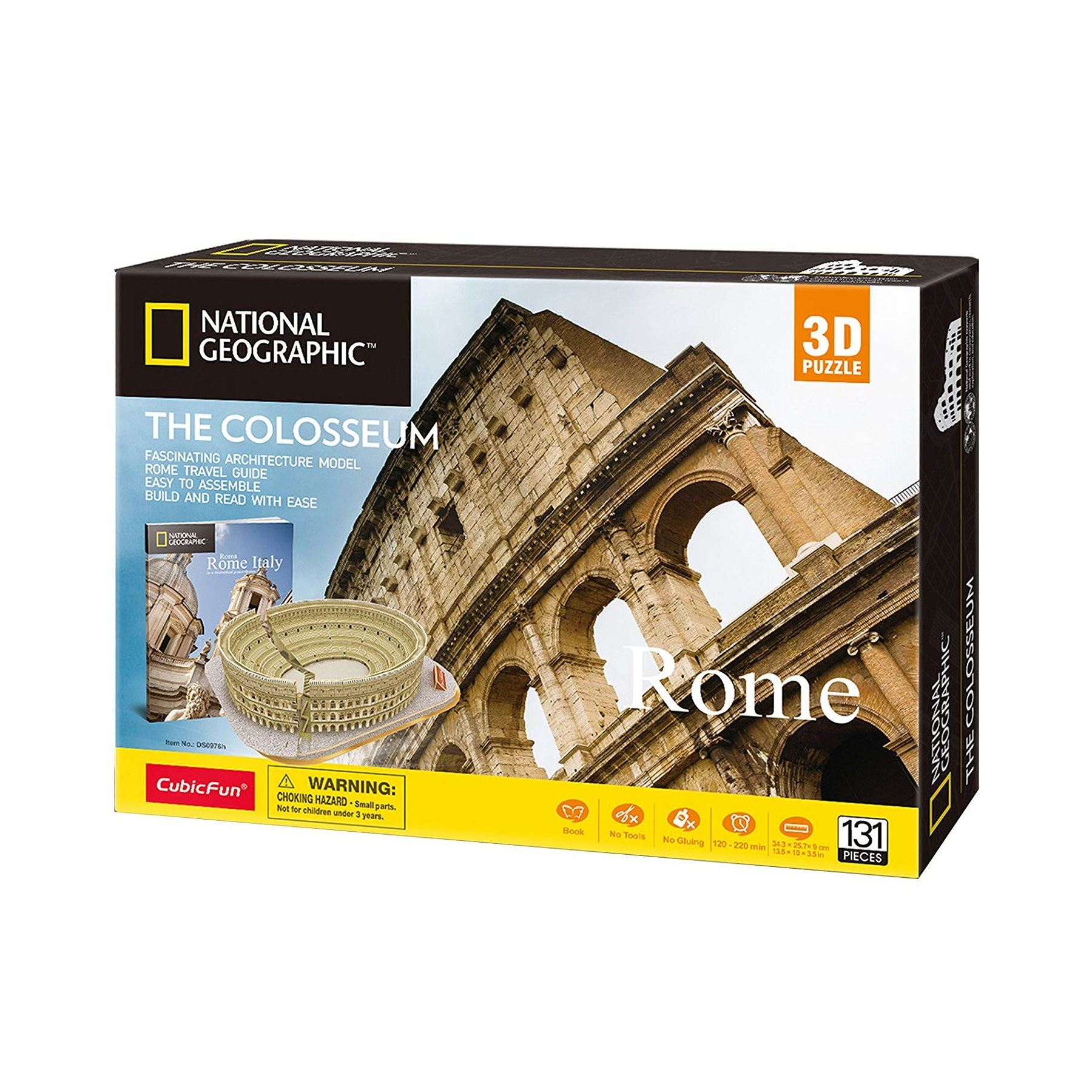 National Geographic Le Colisée Rome Education 3D 131 pièces Puzzle Jigsaw Cadeau