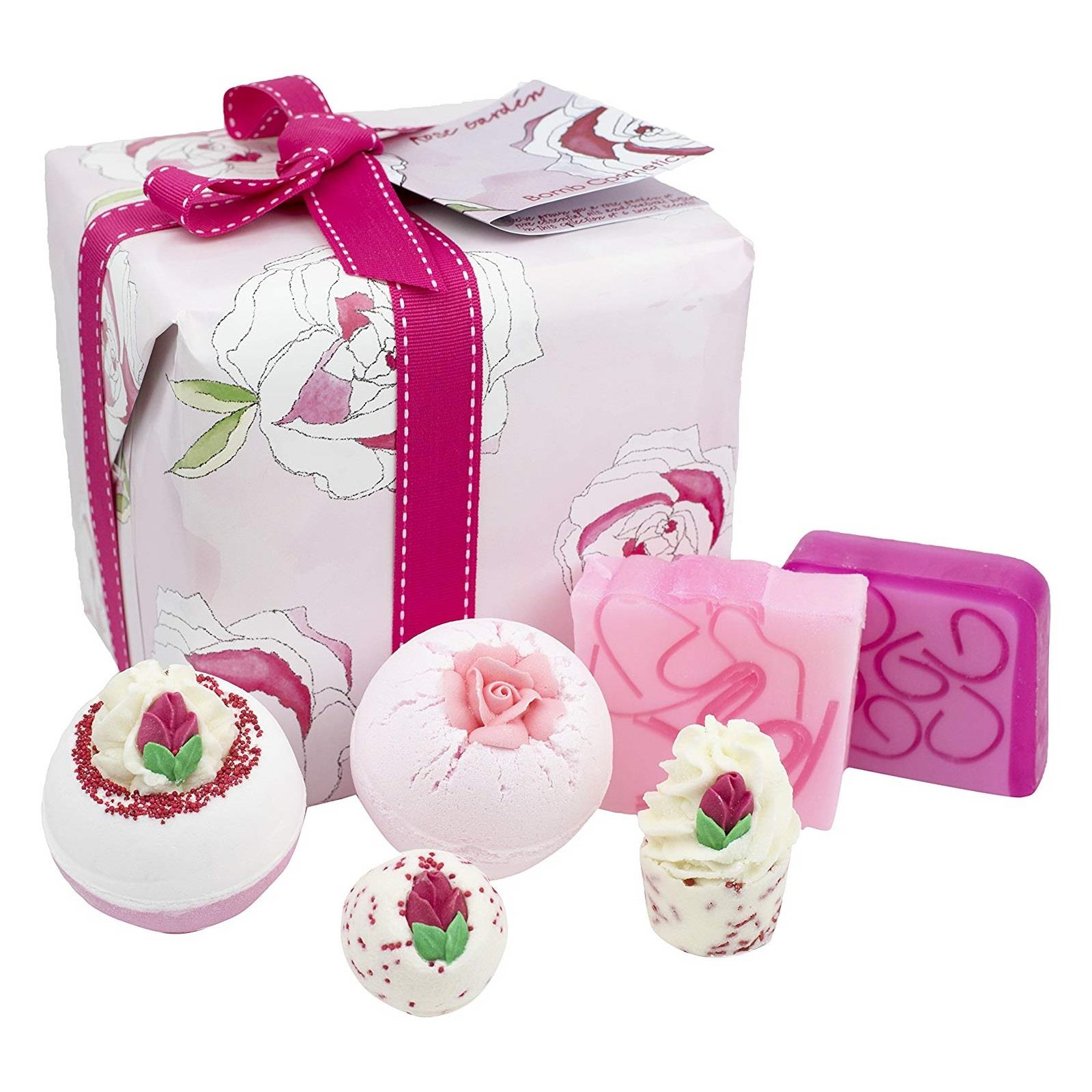 Details about Bomb Cosmetics Rose Garden Gift Set Luxury Handmade Bath Body  Square Wrapped Box