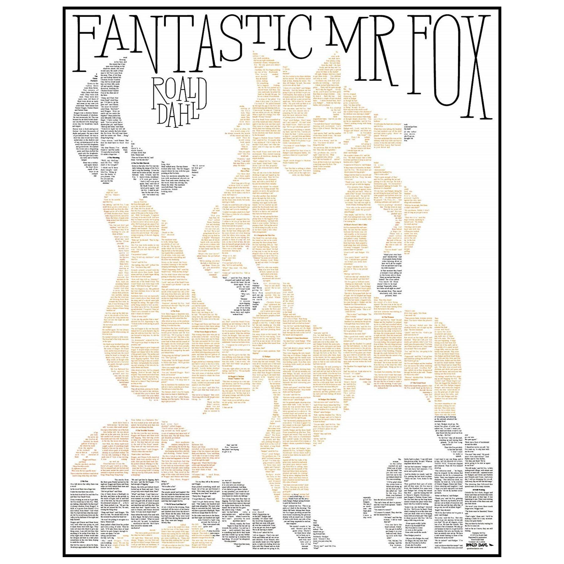 Spineless Classics Fantastic Mr Fox Complete Full Book Poster Wall Art Picture