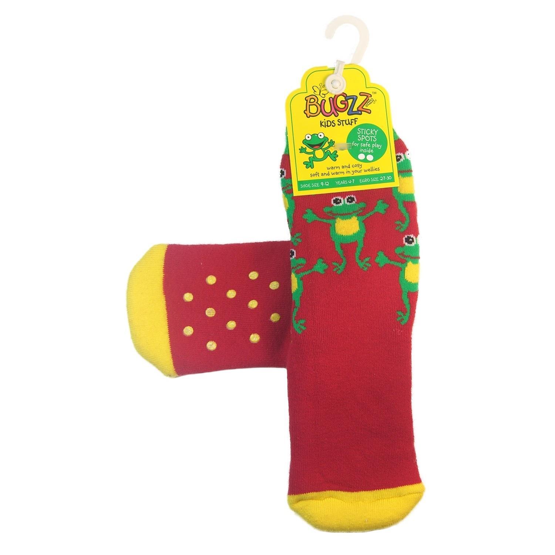 Promo Bugzz Dinosaur Socks Childrens Toddlers Non-Slip Wellie Boot Slipper Socks