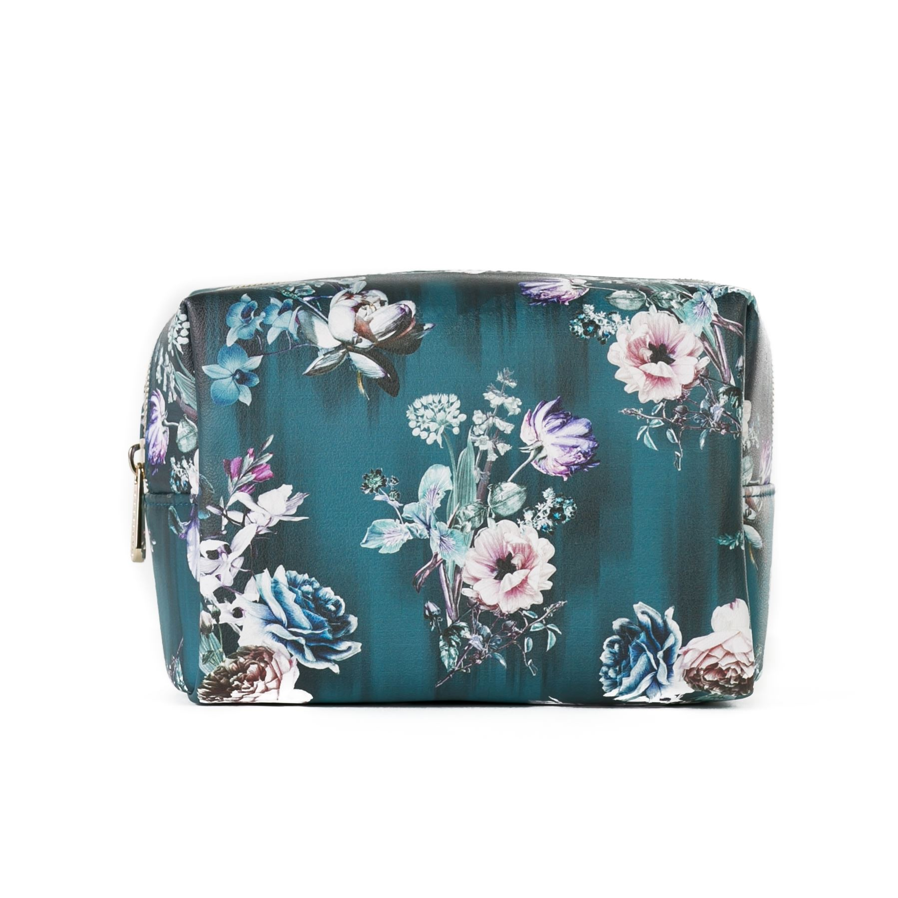 41c818e47ce8 Details about Danielle Creations Wild & Bloom Teal Floral Make Up Bag Boxy  Cosmetic Organiser